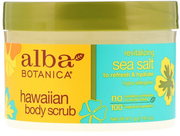 Alba Botanica, Hawaiian Body Scrub, 14.5 oz (411 g)