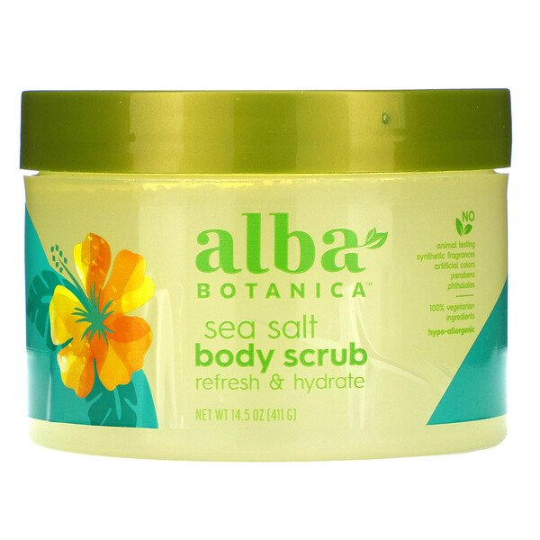 Alba Botanica, Sea Salt Body Scrub, 14.5 oz (411 g)
