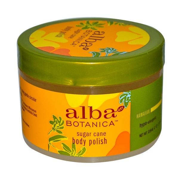 Alba Botanica, 甘蔗身體磨砂,10盎司(284克)