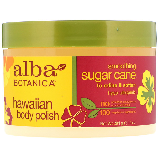 Alba Botanica, Hawaiian Body Polish, Sugar Cane, 10 oz (284 g) (Discontinued Item)