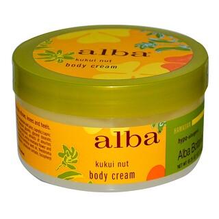 Alba Botanica, Body Cream, Kukui Nut, 6.5 oz (180 g)