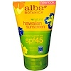 Alba Botanica, Natural Hawaiian Sunscreen, SPF 45, 4 oz (113 g)