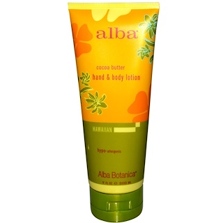 Alba Botanica, Hand & Body Lotion, Cocoa Butter, 7 fl oz (200 ml)