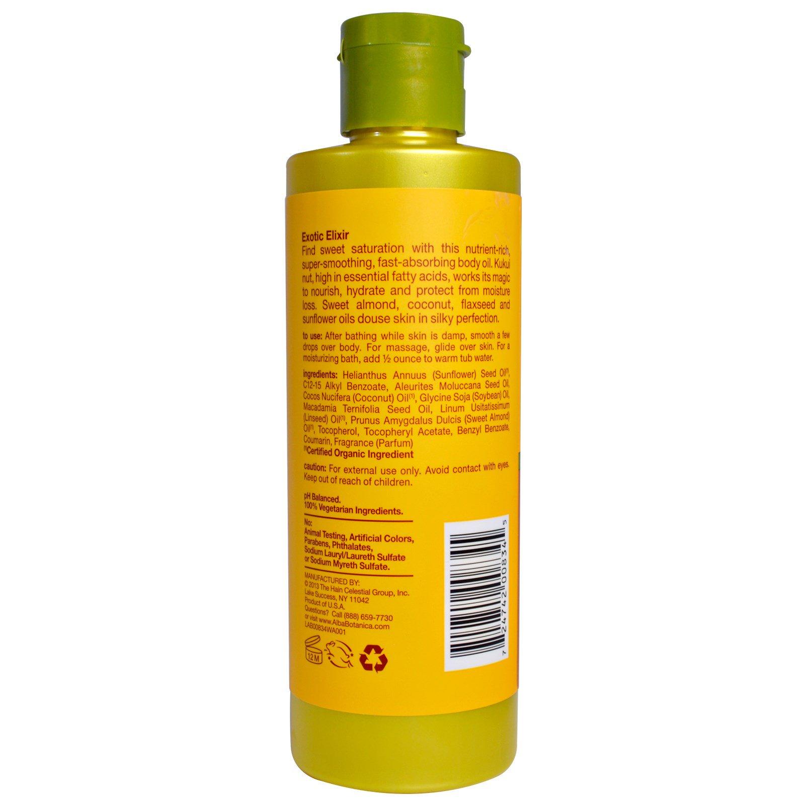 Alba Botanica, Hawaiian Body Oil, Kukui Nut, 8 5 fl oz (251 ml)