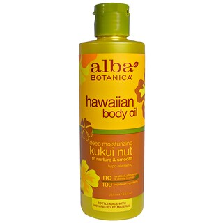 Alba Botanica, Hawaiian Body Oil, Kukui Nut, 8.5 fl oz (251 ml)