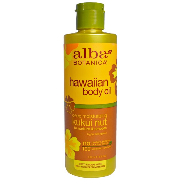 Hawaiian Body Oil, Kukui Nut, 8.5 fl oz (251 ml)