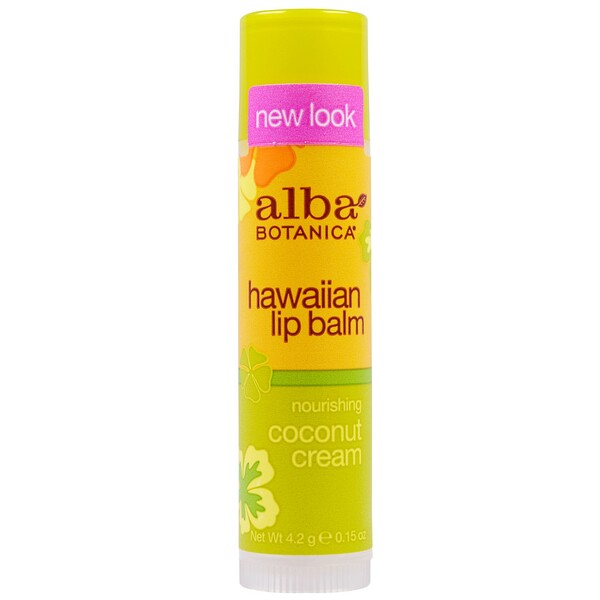 Alba Botanica, Hawaiian Lip Balm, Nourishing Coconut Cream, .15 oz (4.2 g)