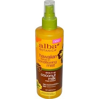 Alba Botanica, Hawaiian Leave-In Conditioning Mist, Drink It Up Coconut Milk, 8 fl oz (237 ml)