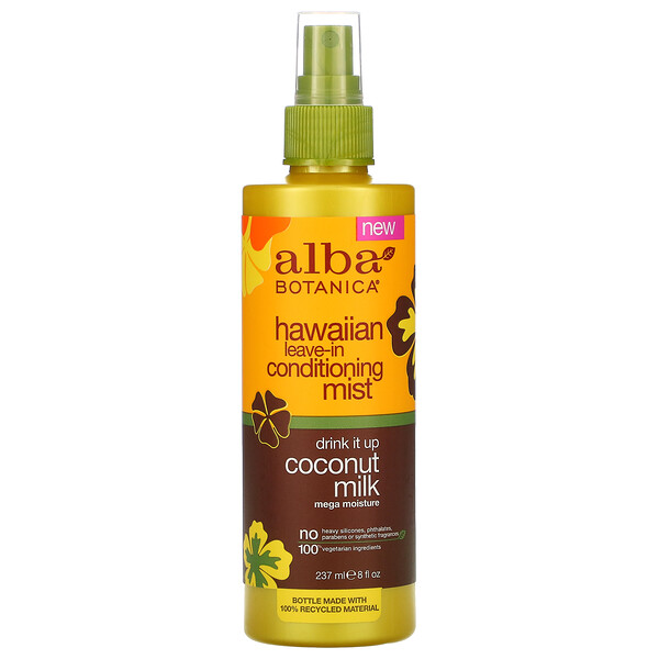 Alba Botanica, Hawaiian Leave-In Conditioning Mist, Drink It Up Coconut Milk, 8 fl oz (237 ml)