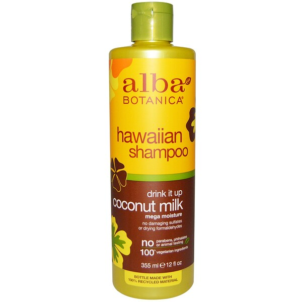Alba Botanica, Drink it Up Shampoo de Leche de Coco, 12 fl oz (355 ml)