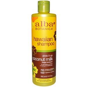 Alba Botanica, Drink it Up, шампунь с кокосовым молоком, 12 жидких унций (355 мл)