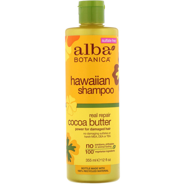 Alba Botanica, Hawaiian Shampoo, Real Repair Cocoa Butter, 12 fl oz (355 ml) (Discontinued Item)