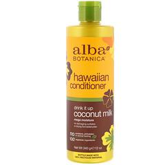 Alba Botanica, 夏威夷護髮素,Drink It Up 椰奶,12 盎司(340 克)
