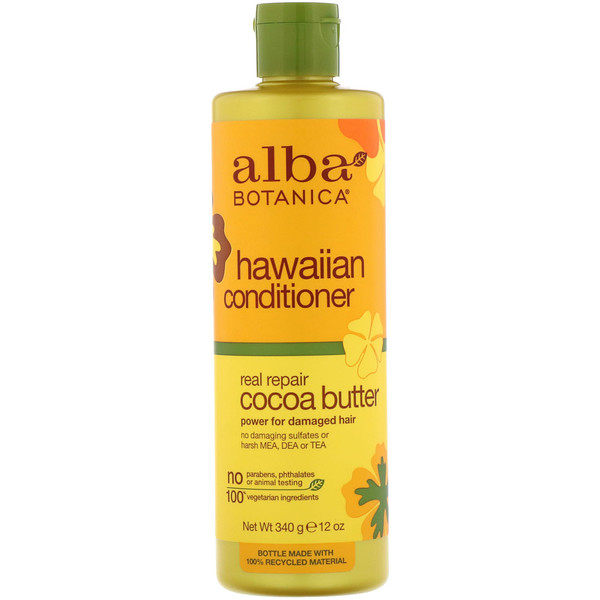 Alba Botanica, Hawaiian Conditioner, Real Repair Cocoa Butter, 12 oz (340 g) (Discontinued Item)
