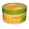 Alba Botanica, Crema corporal, leche de coco, 6,5 oz (180 g)