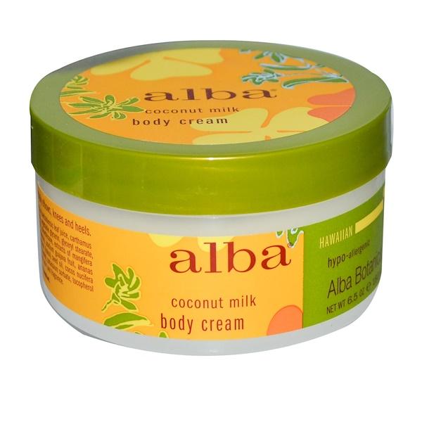 Alba Botanica, Body Cream, Coconut Milk, 6.5 oz (180 g) (Discontinued Item)