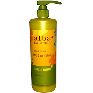 Alba Botanica, Hand & Body Lotion, Cocoa Butter, 24 oz (680 g)