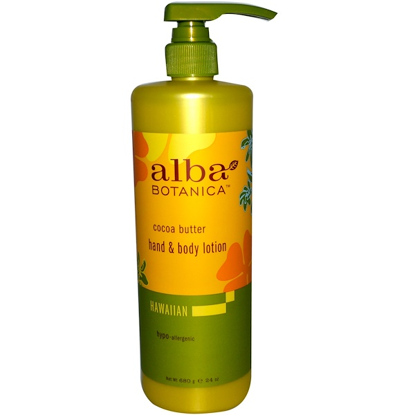 Alba Botanica, Hand & Body Lotion, Cocoa Butter, 24 oz (680 g) (Discontinued Item)
