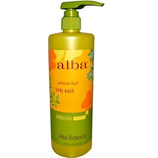 Alba Botanica, Body Wash, Passion Fruit, 24 fl oz (710 ml)