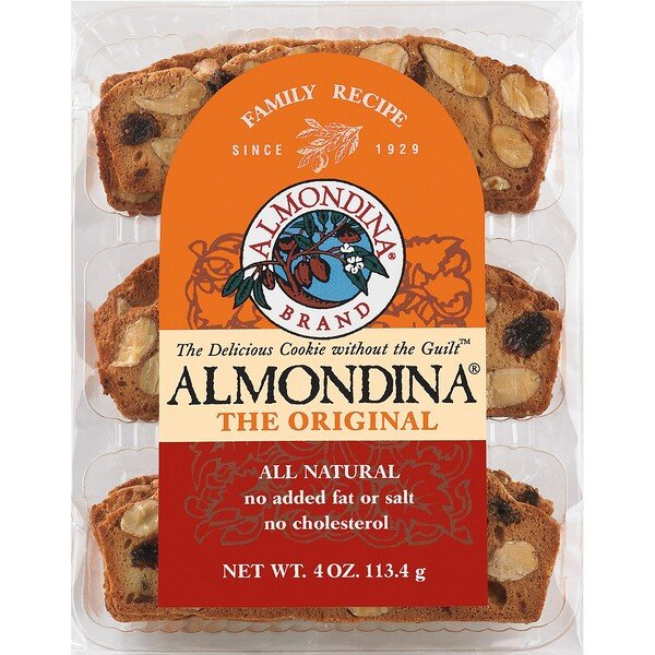 Almondina, The Original Almond Biscuits, 113 g (4 oz)