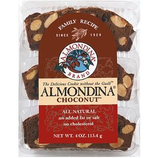 Almondina, Choconut、アーモンドとチョコレートのビスケット、4オンス(113 g)