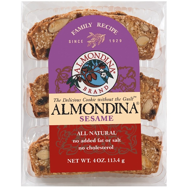 Almondina, Sesame, Sesame and Almond Biscuits, 4 oz (113 g)