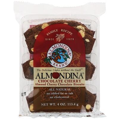 Almondina Шоколадная вишня, шоколадное печенье с миндалем и вишней, 4 унц. (113,4 г)