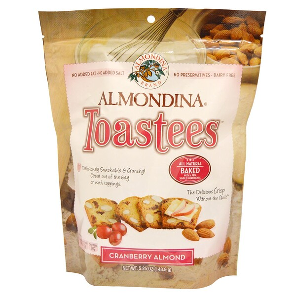 Almondina, Toastees, Cranberry Almond, 5.25 oz (148.9 g)