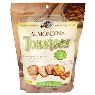 Almondina, Toastees, Sesame Almond, 5.25 oz (148.9 g)