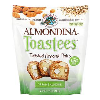 Almondina, Toastees, Toasted Almond Thins, Sesame Almond, 5.25 oz (149 g)