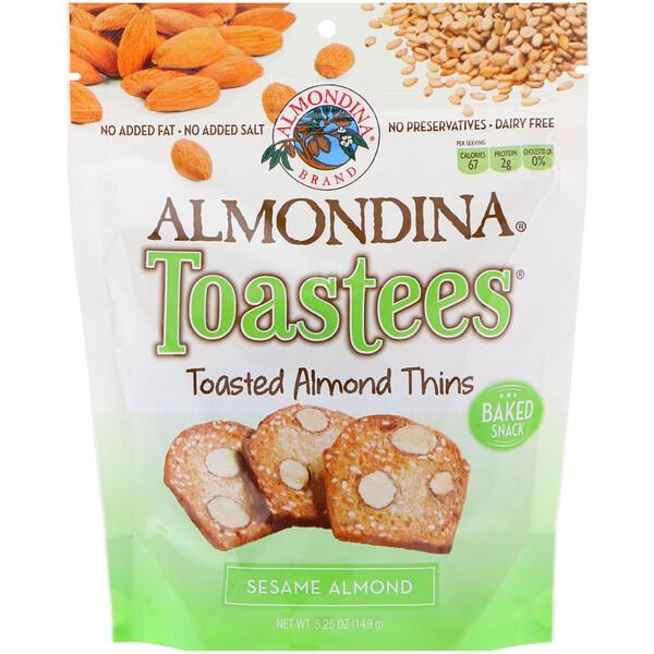 Almondina, Toastees, Sesame Almond, 5.25 oz (149 g)
