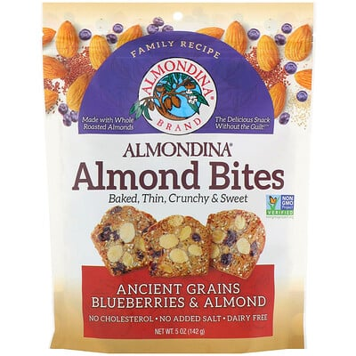 Almondina Almond Bites, Ancient Grains Blueberries & Almonds, 5 oz (142 g)
