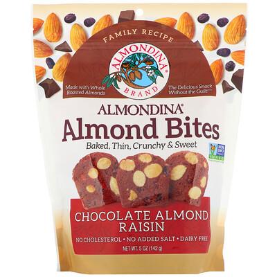 Купить Almondina Almond Bites, Chocolate Almond Raisin, 5 oz (142 g)