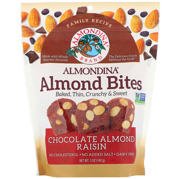 Almond Bites, Chocolate Almond Raisin, 5 oz (142 g)