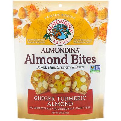 Almondina Almond Bites, Ginger Turmeric Almond, 5 oz (142 g)