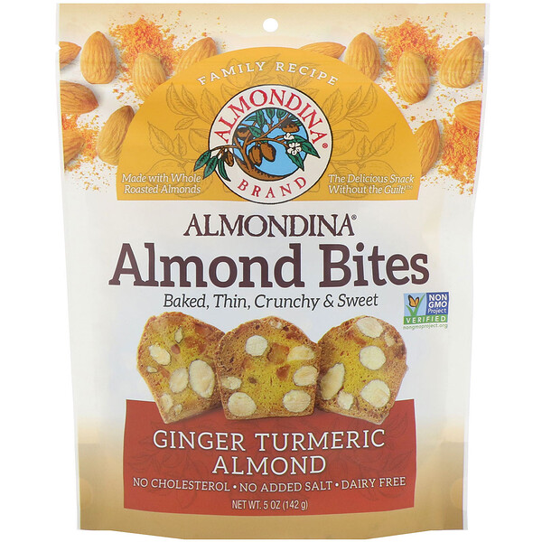 Almond Bites, Ginger Turmeric Almond, 5 oz (142 g)