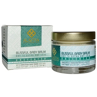 Alaffia, ブリスフルベイビーバーム、 乾燥~超乾燥肌、 無香、 2.0 fl oz (59 ml)