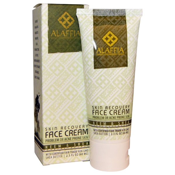Alaffia, Skin Recovery Face Cream, Neem & Shea Butter, 2.3 fl oz (68 ml) (Discontinued Item)