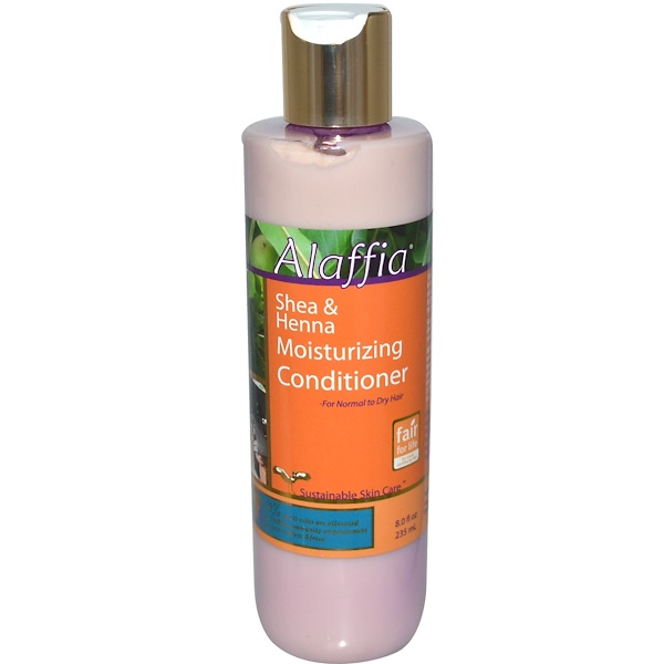 Alaffia, Shea & Henna Moisturizing Conditioner, 8.0 fl oz (235 ml) (Discontinued Item)