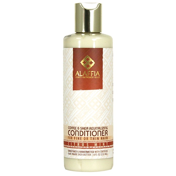 Alaffia, Coffee & Shea Revitalizing Conditioner, Citrus Mint, 8 fl oz (235 ml)