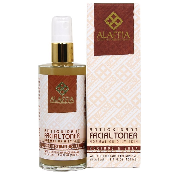 Alaffia, Rooibos & Shea Antioxidant Facial Toner, 3.4 oz (100 ml) (Discontinued Item)