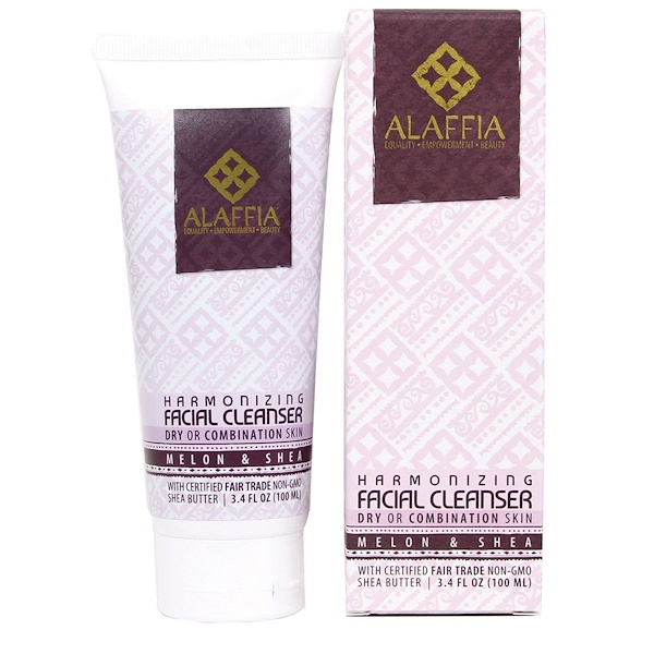 Alaffia, Harmonizing Facial Cleanser, Melon & Shea, 3.4 fl oz (100 ml) (Discontinued Item)