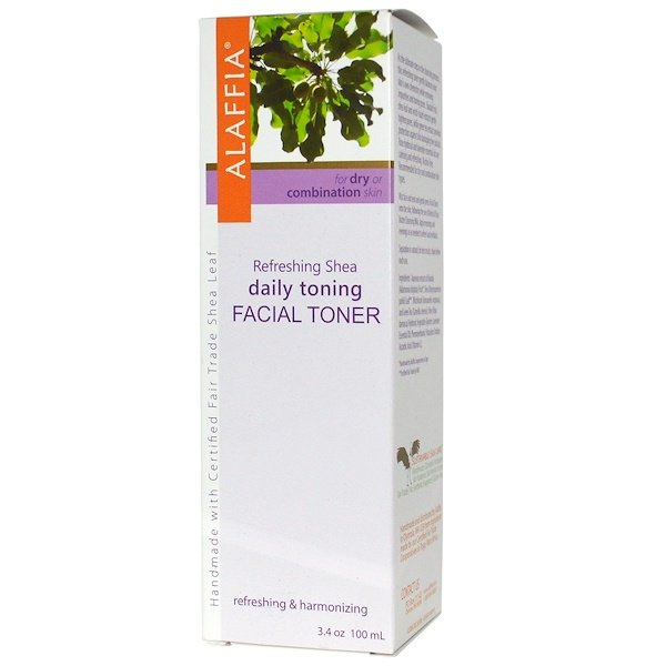 Alaffia, Refreshing Facial Toner, Baobab & Shea, 3.4 oz (100 ml) (Discontinued Item)