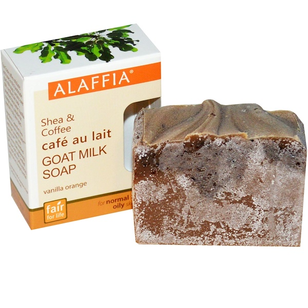 Alaffia, Shea & Coffee Goat Milk Soap, Vanilla Orange, 3.0 oz (85 g) (Discontinued Item)