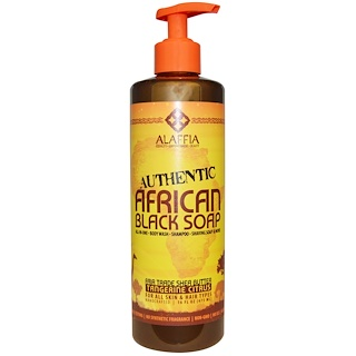 Alaffia, Authentic African Black Soap, Tangerine Citrus, 16 fl oz (475 ml)