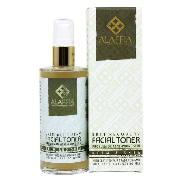 Alaffia, Skin Recovery Facial Toner, Neem & Shea, 3.4 fl oz (100 ml) (Discontinued Item)