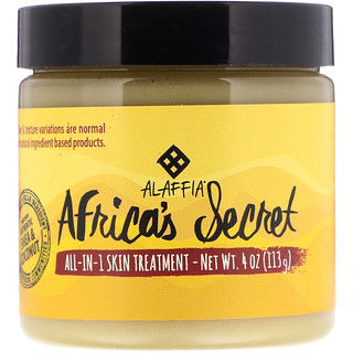 Alaffia, Africa's Secret, All-in-1 Skin Treatment, Shea Butter & Coconut Oil, Naturally Scented, 4 oz (113 g)