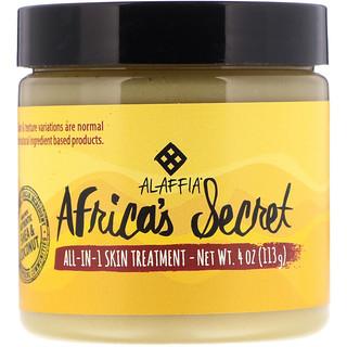 Alaffia, Средство для лечения кожи все-в-1 Africa's Secret, масло ши и кокосовое масло, натуральный аромат, 4 унц. (113 г)