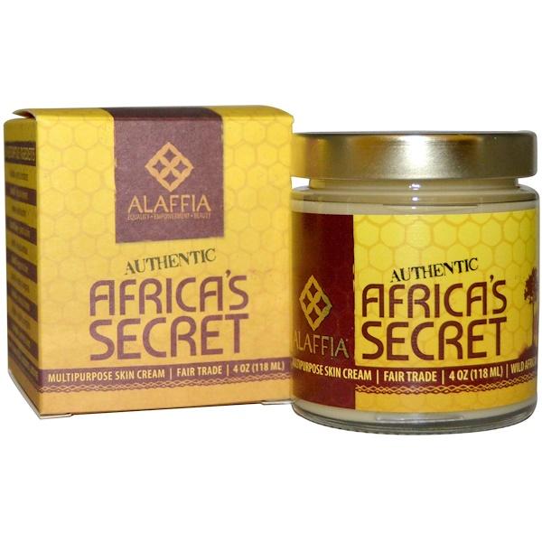 Alaffia, 本物のアフリカの秘密(Authentic Africa's Secret), 多目的スキンクリーム, 4オンス(118 ml)