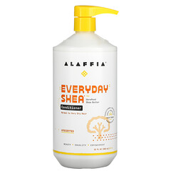 Alaffia, 每日乳木果護髮素,無香型,32 液量盎司(950 毫升)